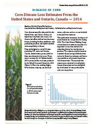 Diseases of Corn: Corn Disease Loss Estimates From the United States and Ontario, Canada—2014