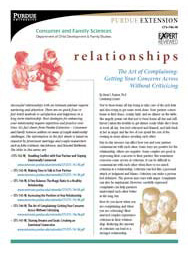 The Art of Complaining: Getting Your Concerns Across Without Criticizing (Relationships series)