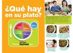 MyPlate Mini-Poster in Spanish (100/pkg)