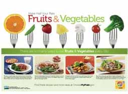 MyPlate poster: Make Half Your Plate Fruits & Vegetables (5/pkg)
