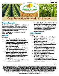 Crop Protection Network: 2016 Impact