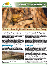 Soybean Disease Management: Pod and Stem blight and Phomopsis Seed Decay