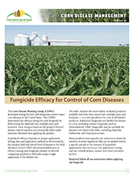 Corn Disease Management: Fungicide Efficacy for Control of Corn Diseases 2018