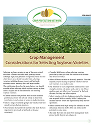 Crop Management: Considerations for Selecting Soybean Varieties
