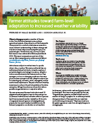 Farmer Attitudes Toward Farm-level Adaptation to Increased Weather Variability