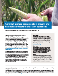 Corn Belt Farmers' Concerns About Drought and Heat-related Threats to Their Farm Operations