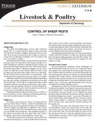 Control of Sheep Pests