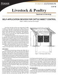 Self-Application Devices for Cattle Insect Control