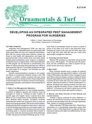 Developing an Integrated Pest Management Program for Nurseries