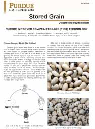 Stored Grain: Purdue Improved Cowpea Storage (PICS) Technology
