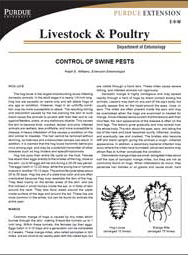 Control of Swine Pests