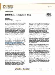 2013 Indiana Farm Custom Rates