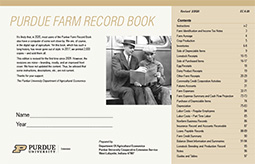 Indiana Farm Record Book