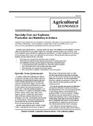 An Overview of Specialty Corn & Soybean Production in Indiana