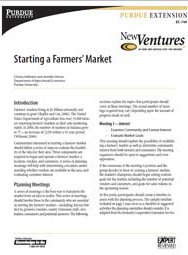 Starting a Farmers' Market
