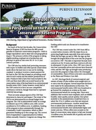 2007 Perspective on the Past & Future of the Conservation Reserve Program