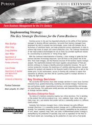Implementing Strategy: The Key Strategic Decisions for the Farm Business