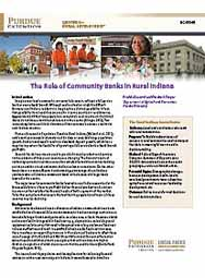The Role of Community Banks in Rural Indiana