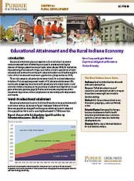 Educational Attainment and The Rural Indiana Economy
