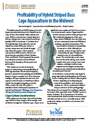 Profitability of Hybrid Striped Bass Cage Aquaculture in the Midwest