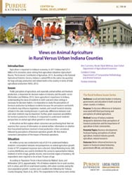 Views on Animal Agriculture in Rural Versus Urban Indiana Counties