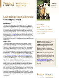 Small-Scale Livestock Enterprises: Goat Enterprise Budget