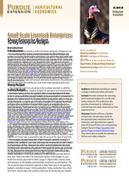 Small-Scale Livestock Enterprises: Turkey Enterprise Budget