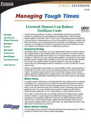 Livestock Manure Can Reduce Fertilizer Costs