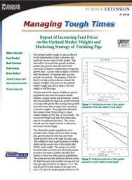 Impact of Increasing Feed Prices on the Optimal Market Weights and Marketing Strategy of Finishing Pigs