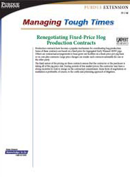 Renegotiating Fixed-Price Hog Production Contracts