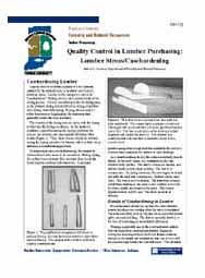 Quality Control in Lumber Purchasing: Lumber Stress/Casehardening