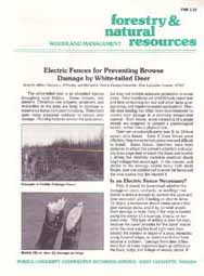 Electric Fences for Preventing Browse Damage by White-Tailed Deer