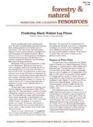 Predicting Black Walnut Log Prices
