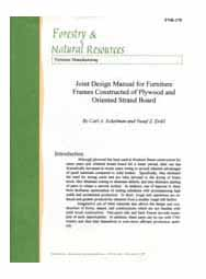 Joint Design Manual for Furniture Frames Constructed of Plywood and Oriented Strand Board