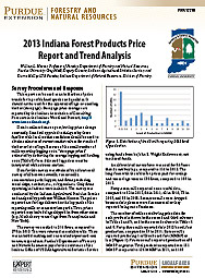 2013 Indiana Forest Products Price Report and Trend Analysis