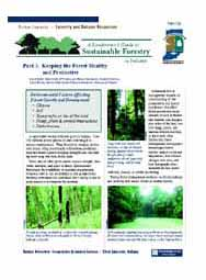 A Landowner's Guide to Sustainable Forestry: Part 3: Keeping Your Forest Healthy and Productive
