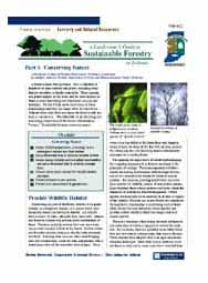 A Landowner's Guide to Sustainable Forestry: Part 4: Conserving Nature