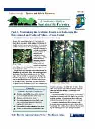A Landowner's Guide to Sustainable Forestry: Part 6: Maintaining the Aesthetic Beauty...Cultural Values of Your Forest