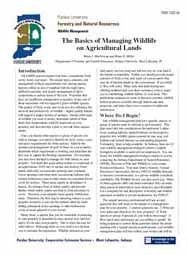 The Basics of Managing Wildlife on Agricultural Lands