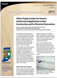 Finishing and Restoring Wood and Structures: Yellow-Poplar Lumber for Exterior Architectural Applications in New Construction and for Historical Restoration