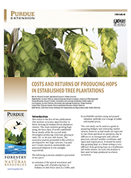 Costs and Returns of Producing Hops in Established Tree Plantations