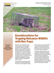 Considerations for Trapping Nuisance Wildlife with Box Traps