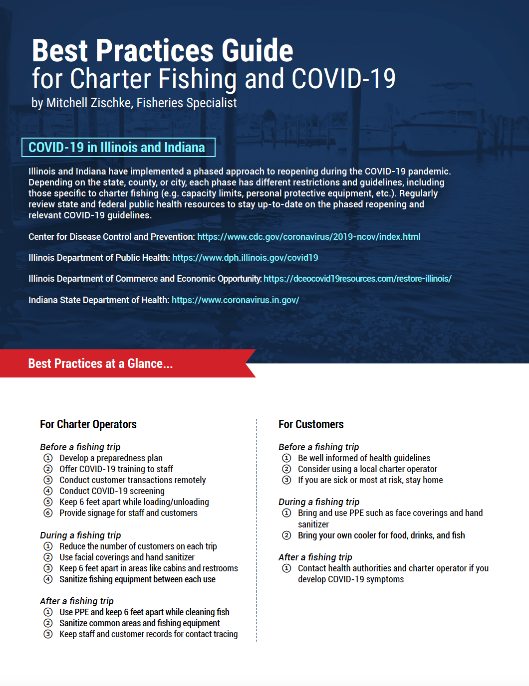 Best Practices Guide for Charter Fishing and COVID-19