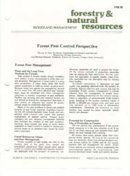 Forest Pest Control Perspective