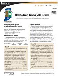 How to Treat Timber Sale Income
