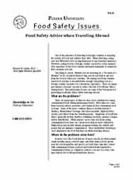 Food Safety Advice When Traveling Abroad