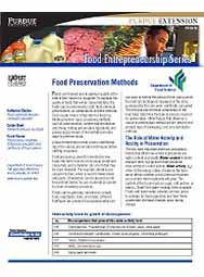 Food Preservation Methods (Food Entrepreneurship Series)