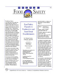 Food Safety Hazards in Foodservice and Food Retail Establishments
