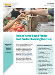Indiana Home-Based Vendor Food Product Labeling Overview (PDF)