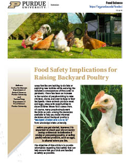 Food Safety Implications for Raising Backyard Poultry